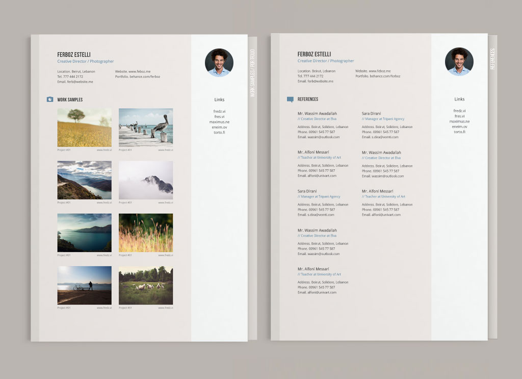 Free Professional Resume CV Template With Cover Letter Amp Portfolio In Ai For Graphic Designer