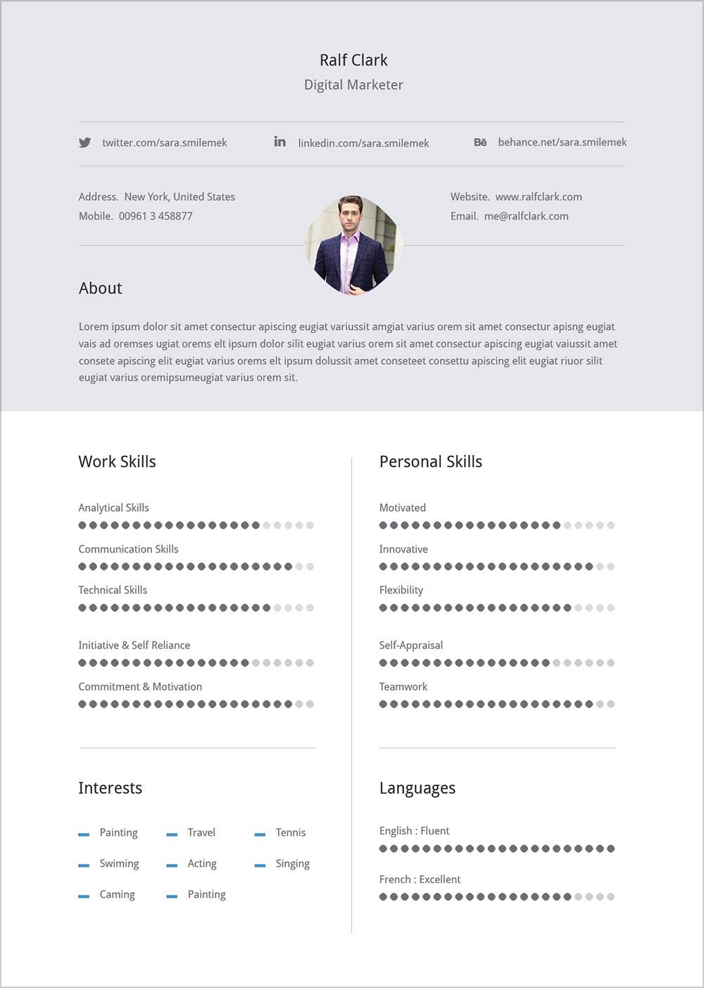resume format download zip file