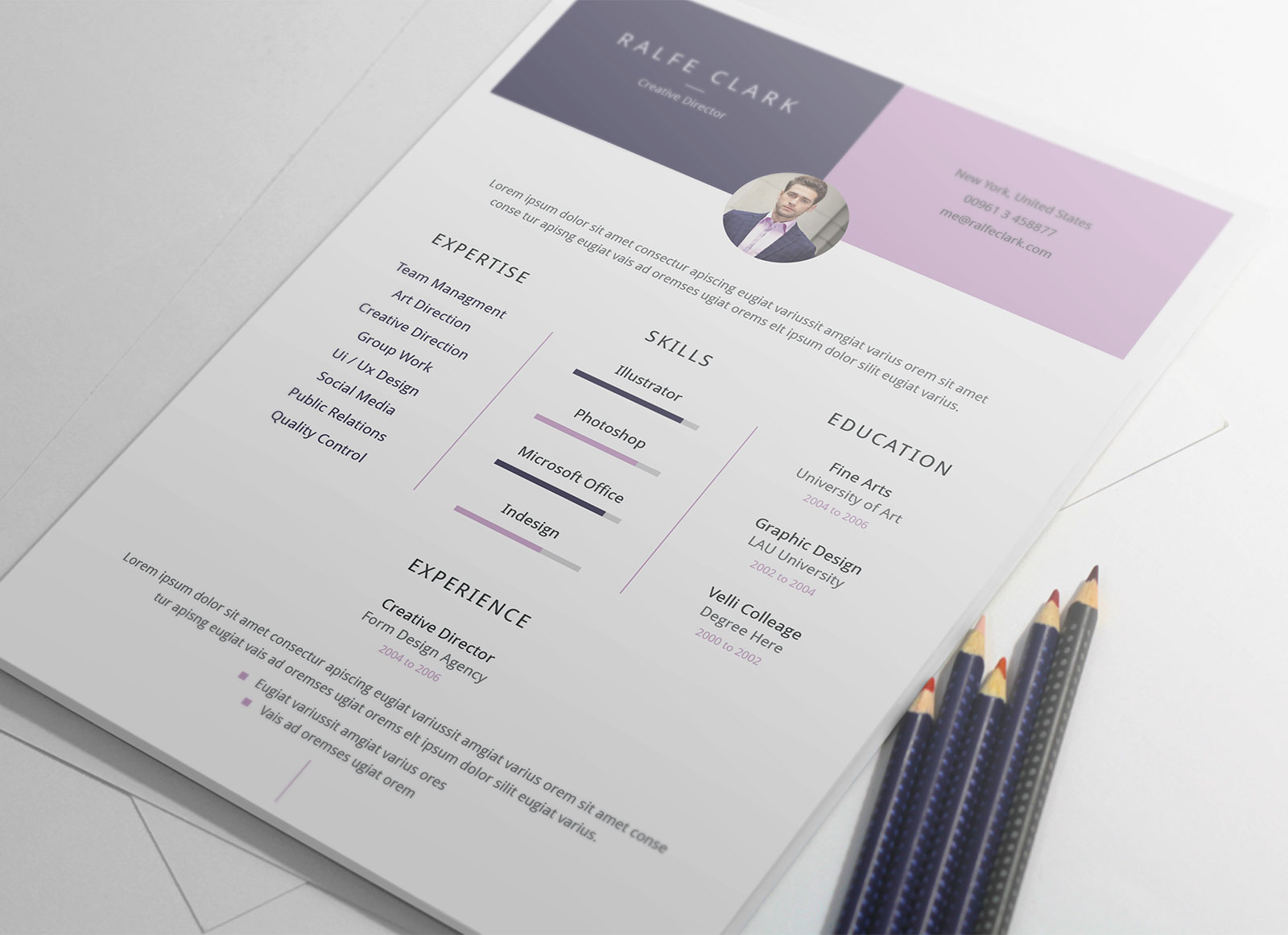 Creative Director Resume Sample Free 2 Page Resume Ai Template And Cover Letter For Creative