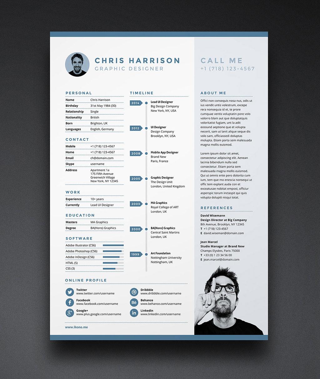 free resume templates 2018 photoshop