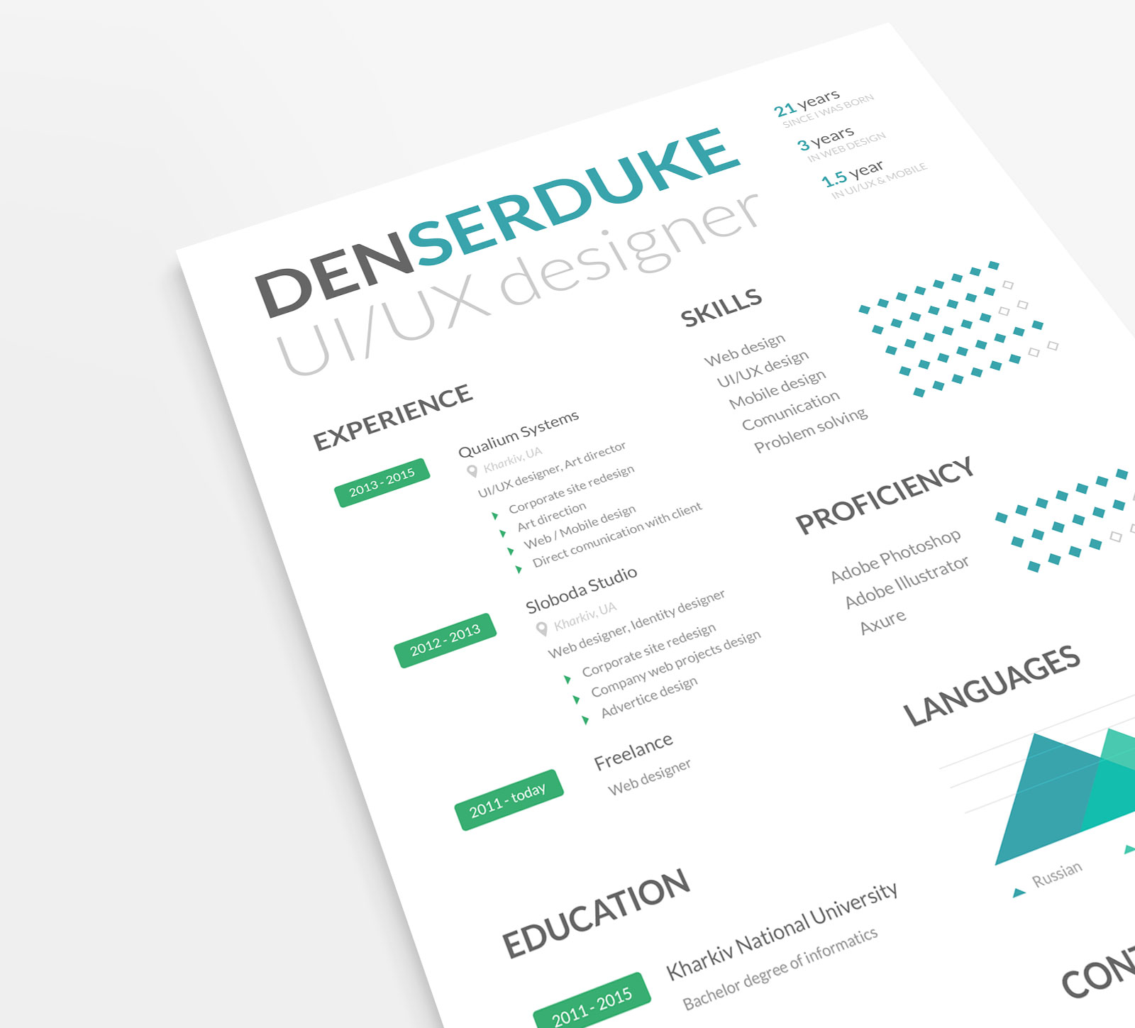 Ux Director Resume Free Ui And Ux Designer Professional Resume Template In Psd
