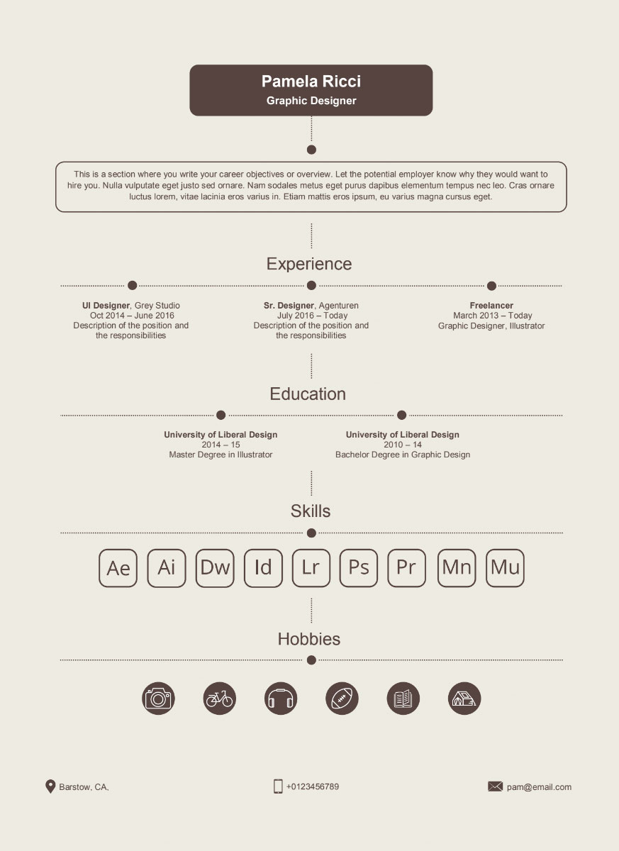 Format Resume Word Free Vintage Resume Template In Word Format Good Resume