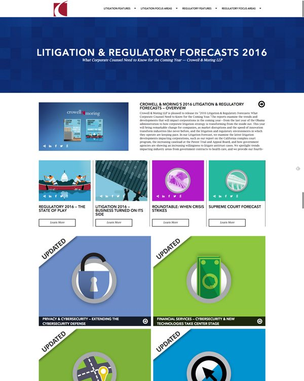 Crowell & Moring - Litigation & Regulatory Forecasts