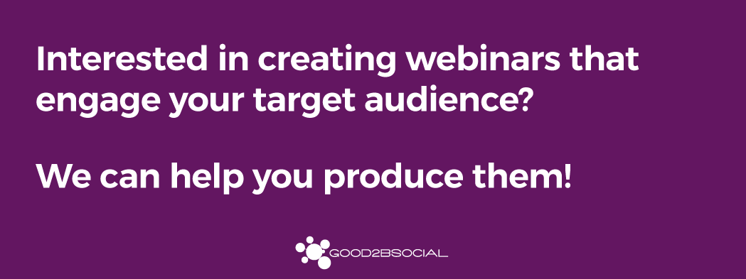 Webinar production CTA