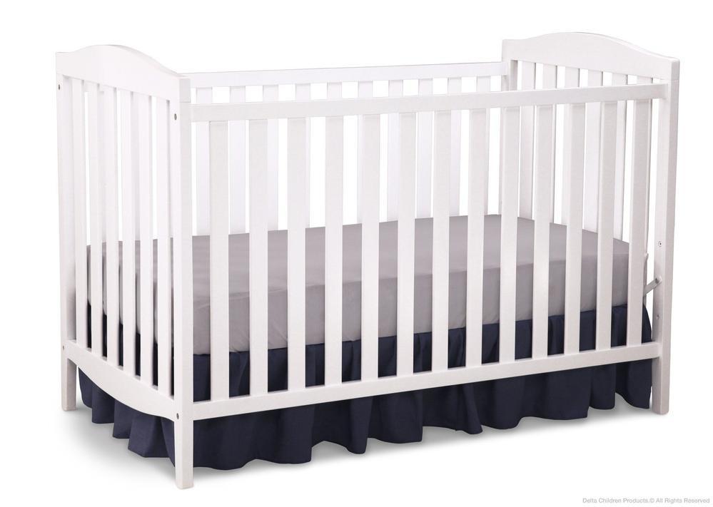 Delta Children 3-in-1 Convertible Crib – Capri (White)