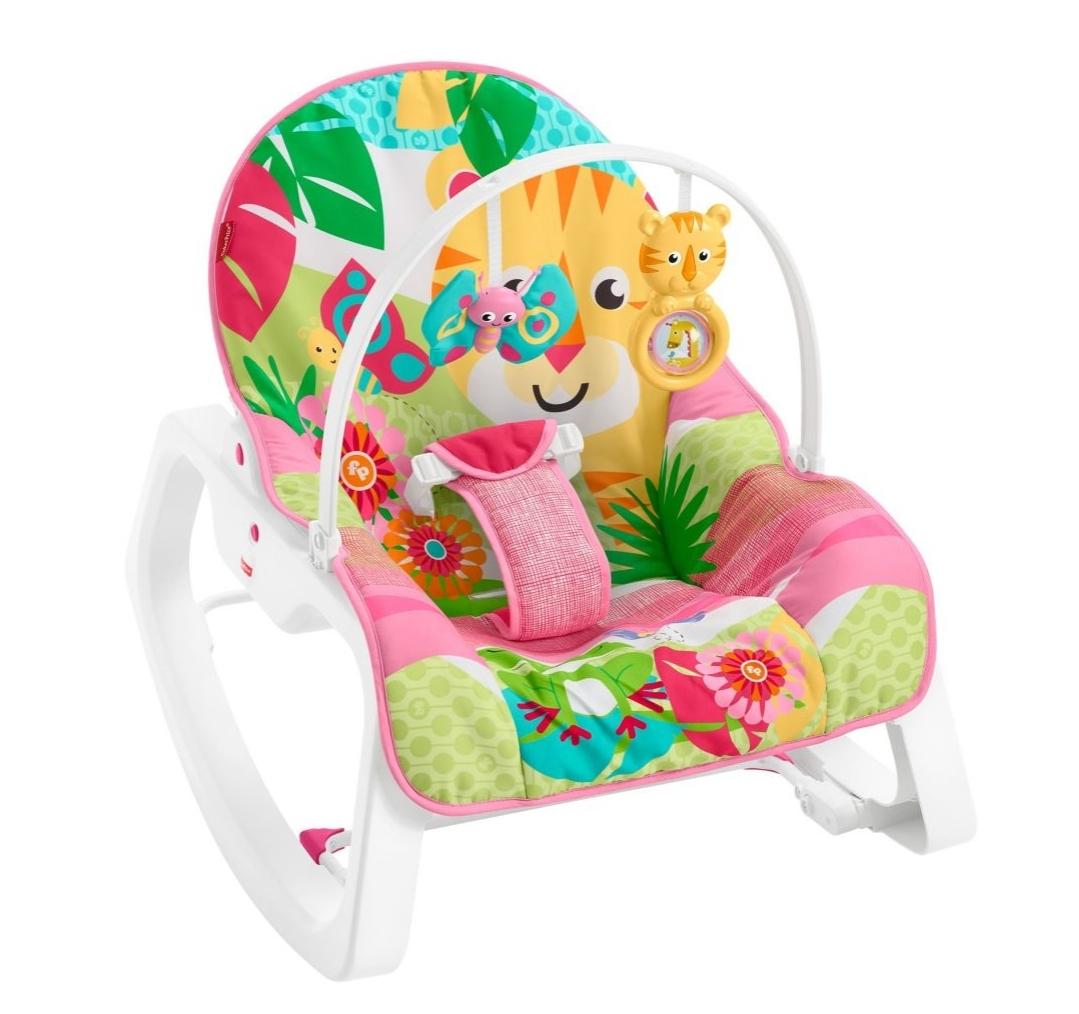 Fisher-Price Infant To Toddler Rocker – Jungle Pink