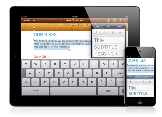 Apple  Pages  Create beautiful documents with a tap