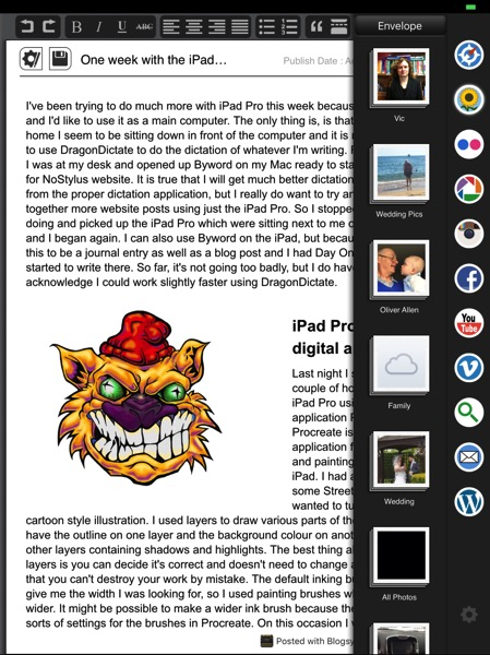 Blogsy on iPad Pro