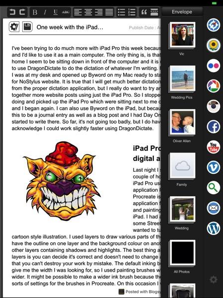Blogsy on iPad Pro