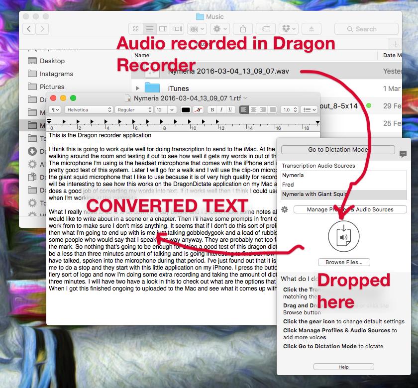 Transcription workfow using Dragon Dictate