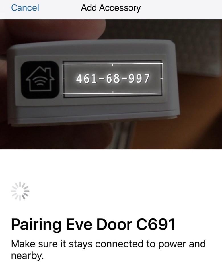 Pairing Elgato Eve Door Accessories