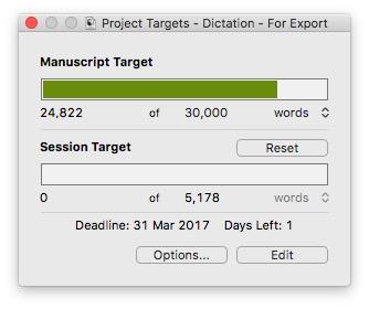 Setting Target for the Manuscript