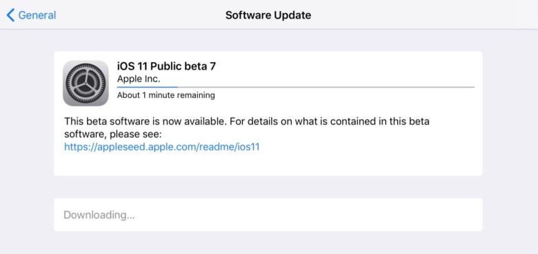 iOS 11 beta 7