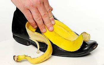 banana skins shoe shine