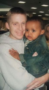 Yosef and I arriving from Ethiopia (April, 2007)