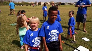 (L to R): My sons; Lynden and Yosef before a flag football game (March 2015)