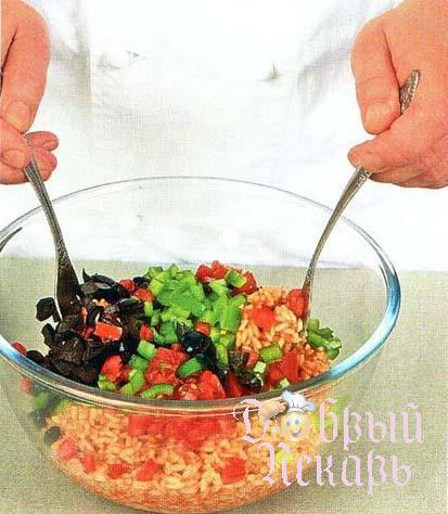 Зеленый перец с овощной начинкой приготовление 4
