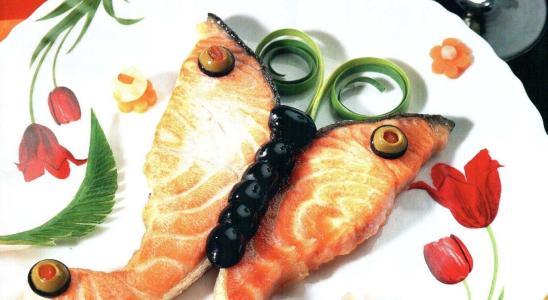 стейк бабочка из лосося