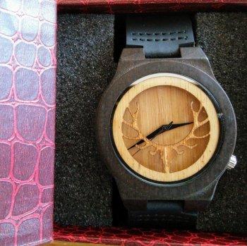 Goodbeer Houten Horloge met Geschenkdoosje