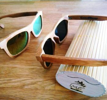 wooden sunglasses bamboo