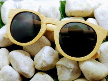 Round bamboo sunglasses