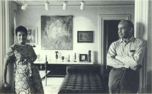 """Invisible Man"" author Ralph Ellison and his wife, Fanny, at their home in New York in 1972, 20 years after the novel's publication. (Nancy Crampton / Knopf)"