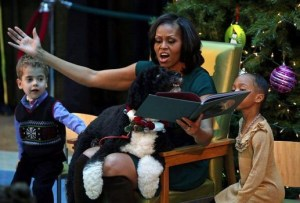 Michelle Obama Reads To Kids At Children's National Medical Center