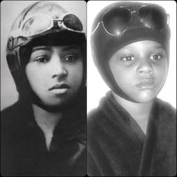 Ava as aviator Bessie Coleman