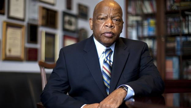 Civil Rights leader and Congressman John Lewis (Photo via black