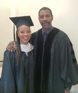 MC Lyte and Denzel Washington at Dillard University (photo via eurweb.com)