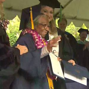 99 Year-Old graduate Doreetha Daniels (photo via Facebook)