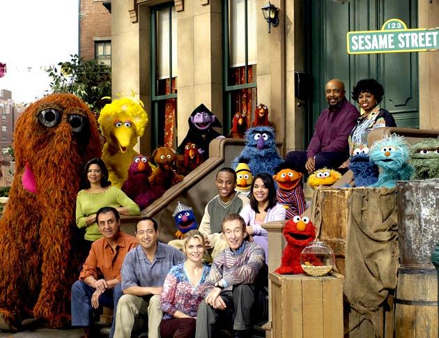 Sesame Street Cast (Photo via blogcdn.com)