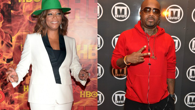 Queen Latifah and Jermaine Dupri (photo via thegrio.com)
