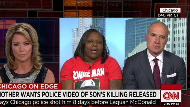 Ronald Johnson's mother Dorothy Holmes fights to have police video of her son's shooting released. (photo via CNN.com)