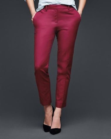 Slim cropped pants  (in garnet)