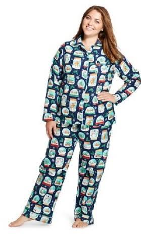 Women's Plus Size Flannel Pajama Set - Nick & Nora®