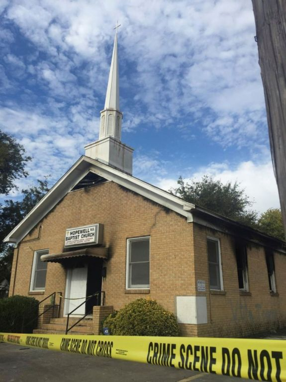 Hopewell Baptist Church in Greenville, MS (photo via chnistiantoday.com)