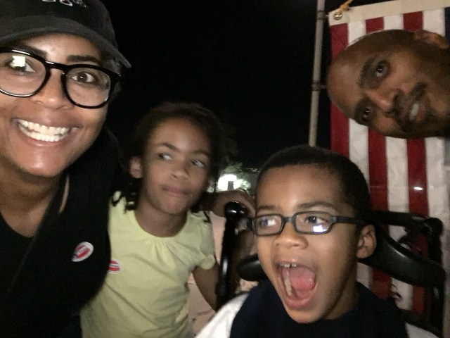 The Hutcherson family at the polls on Election Night 2016 (photo via Lori Lakin Hutcherson)