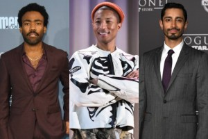 2017 Golden Globe nominees Donald Glover, Pharrell and Riz (photo via billboard.com)