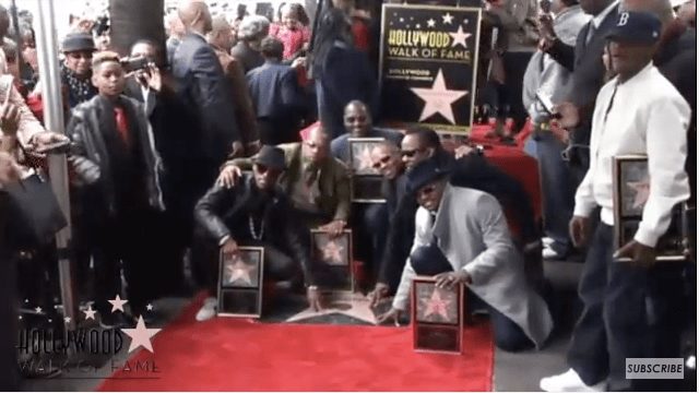 New Edition receives Star on Hollywood Walk of Fame (photo via YouTube)