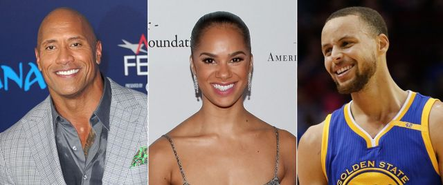 Under Armour spokespeople The Rock, Misty Copeland, Stephen Curry (photo via abcnews.com)