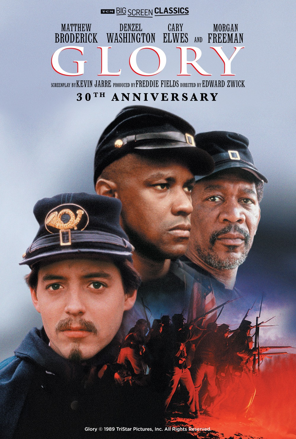 """GBN GIVEAWAY: Win Movie Tickets to 30th Anniversary Re-Release of """"Glory"""" Starring Denzel Washington and Morgan Freeman"""