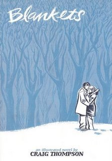 Blankets, Craig Thompson, Book Cover, Blue Forest