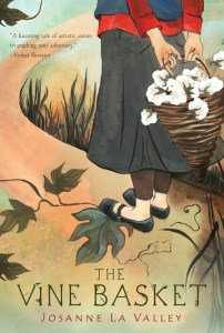 The Vine Basket by Josanne La Valley caught my eye with the beautifully illustrated cover that matches the title and contents of the book.
