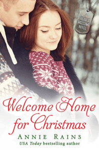 Welcome Home For Christmas by Annie Rains is a bite sized holiday romance novella. It is a fast, adorable read, perfect for cozying up with.