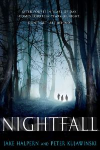 Nightfall by Jake Halpern and Peter Kujawinski seemed to have a really cool premise. It is a young adult horror audiobook. Click for my full review.