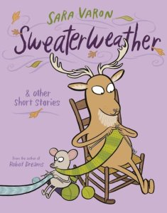Sweaterweather by Sara Varon has an adorable cover. I'll admit that I essentially read this graphic novel based on the cover.