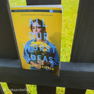 All Our Worst Ideasby Vicky Skinner was just what the doctor ordered. After a stressful couple of days, this was the perfect young adult book to wind down with. After reading this book I just feel refreshed and happy.