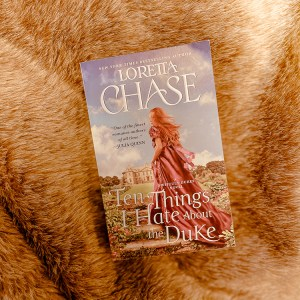 Naturally, Ten Things I Hate About The Duke by Loretta Chase appealed to me. I was so excited to listen to a historical romance retelling of The Taming Of The Shrew.