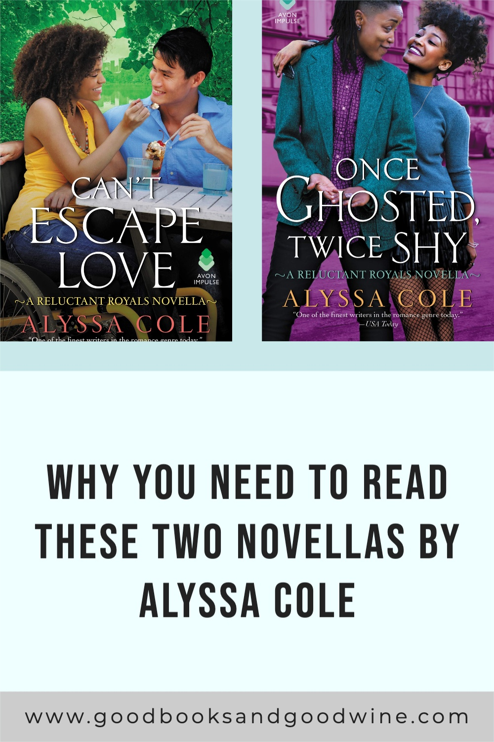 Alyssa Cole proves she is a master of her craft with her contemporary romance novellas Once Ghosted, Twice Shy and Can't Escape Love.
